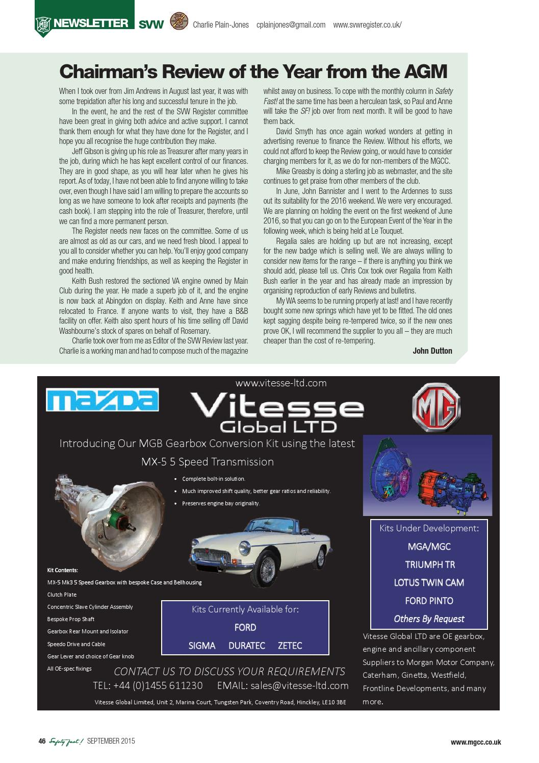 Safety Fast! September 2015 by MG Car Club - issuu