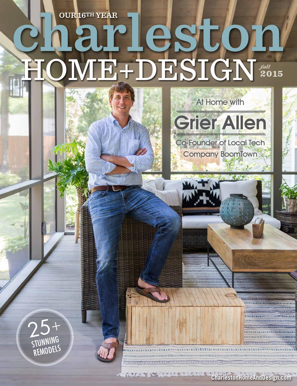 Charleston home design magazine fall 2015 by for Charleston home design magazine