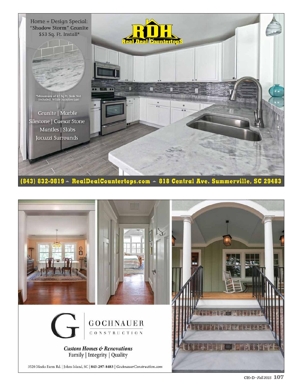 Charleston Home Design Magazine Fall 2015 By Charleston Home Design Magazine Issuu