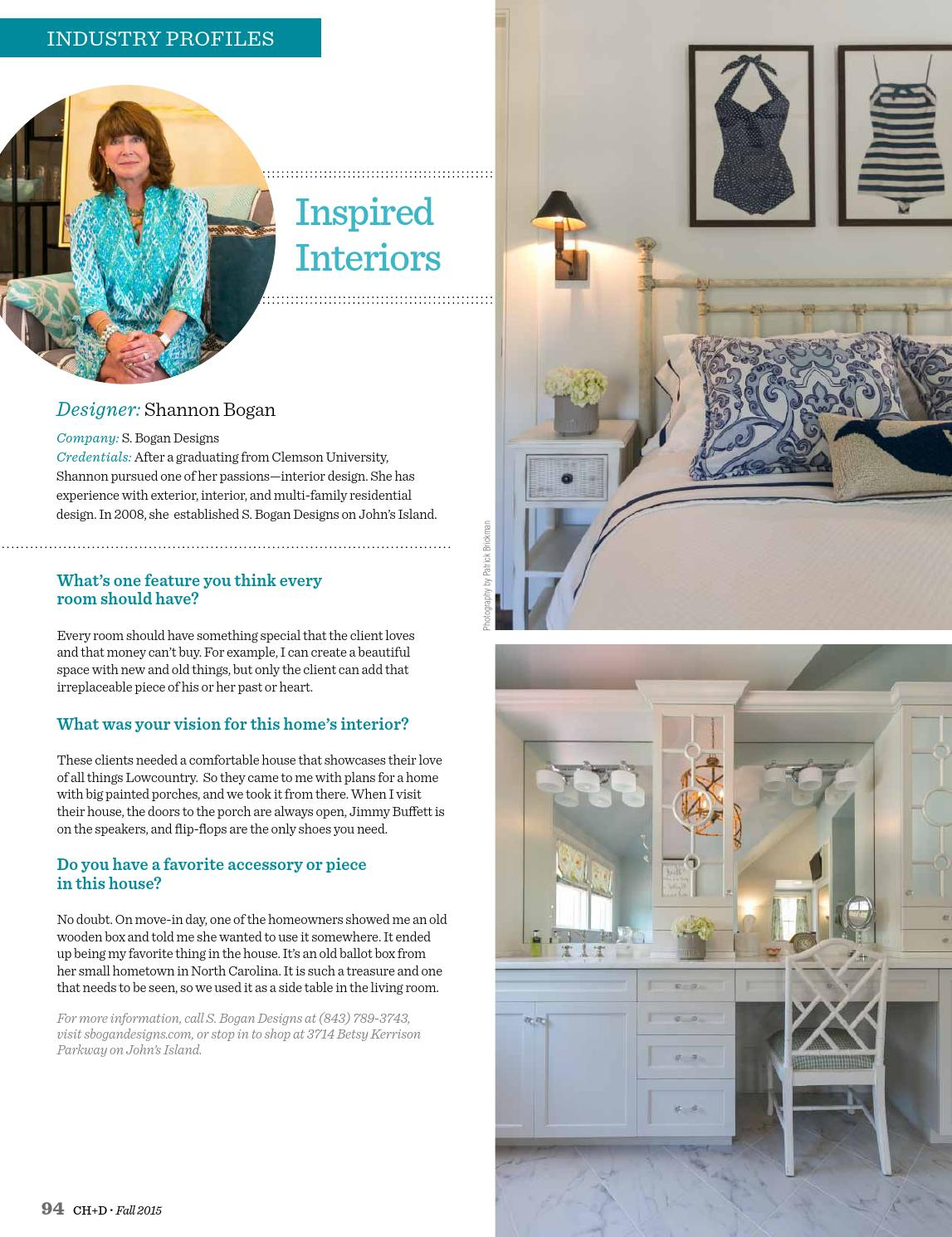Good Charleston Home + Design Magazine   Fall 2015 By Charleston Home + Design  Magazine   Issuu