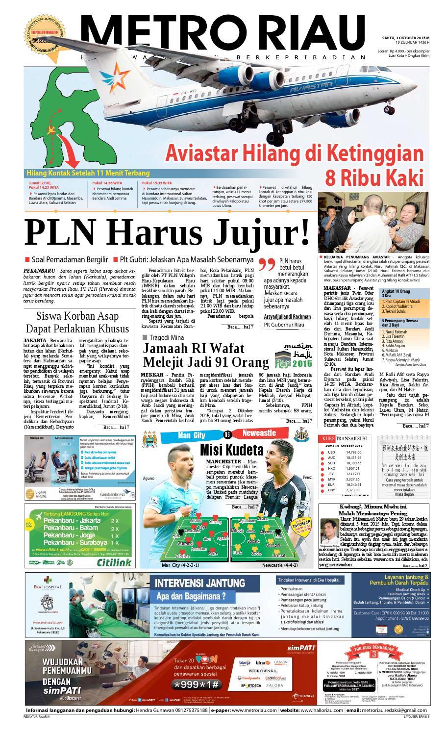 03102015 By Harian Pagi Metro Riau Issuu Produk Ukm Bumn Batik Tulis Warna Alam Ra Ampamp