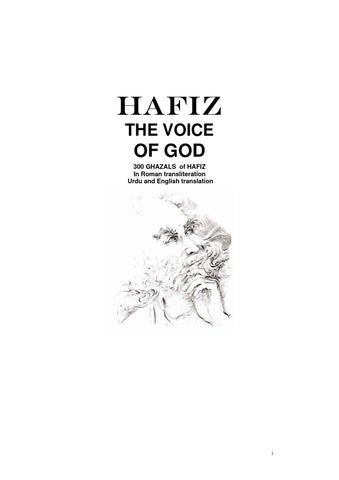 Hafiz - The Voice of God by Rajiv Chakravarti - issuu