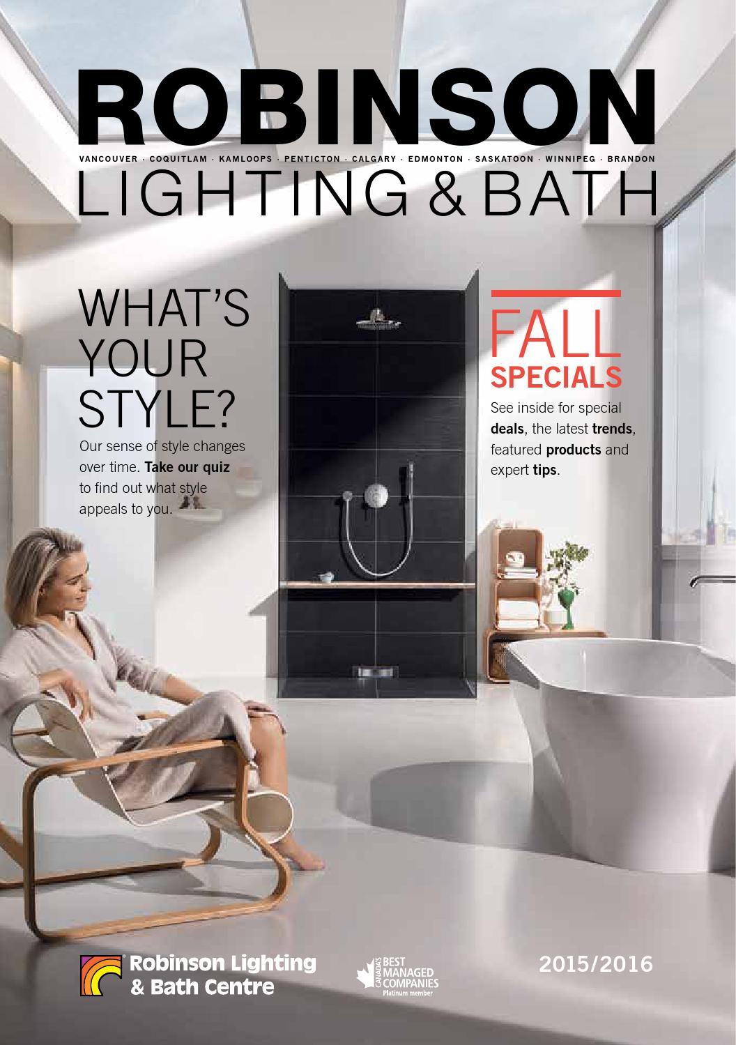 Robinson Lighting Bath Fall Flyer 2017 By