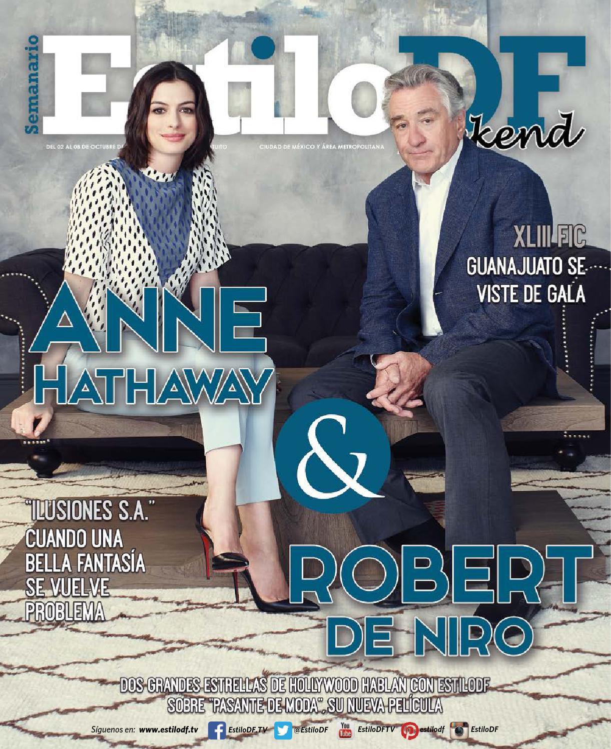 Anne Hathaway And Robert De Niro: EstiloDFWeekend Anne Hathaway Y Robert De Niro 2 De