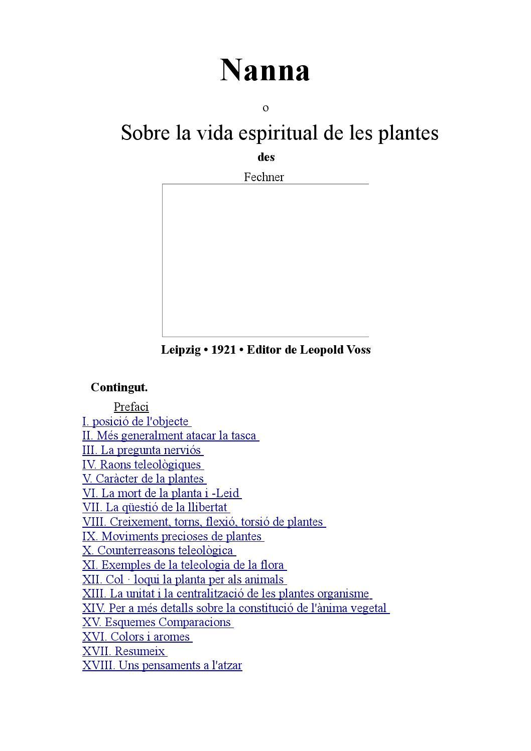 Nanna O Sobre La Vida Espiritual De Les Plantes Catala Gustav Theodor Fechner By Gabriel Brias Buendia Issuu