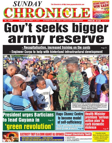 2015 10 03 By Guyana Chronicle E Paper Issuu