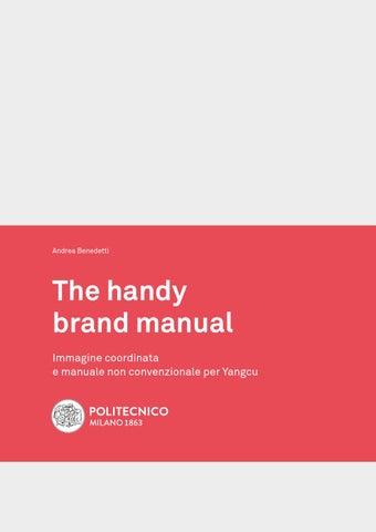 The handy brand manual tesi di laurea in design della for Laurea design milano