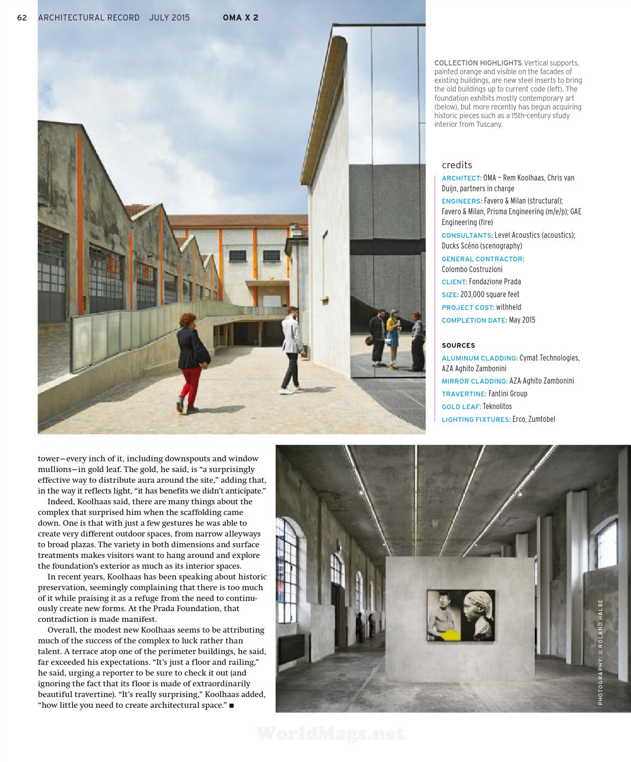 Architectural record 2015 07
