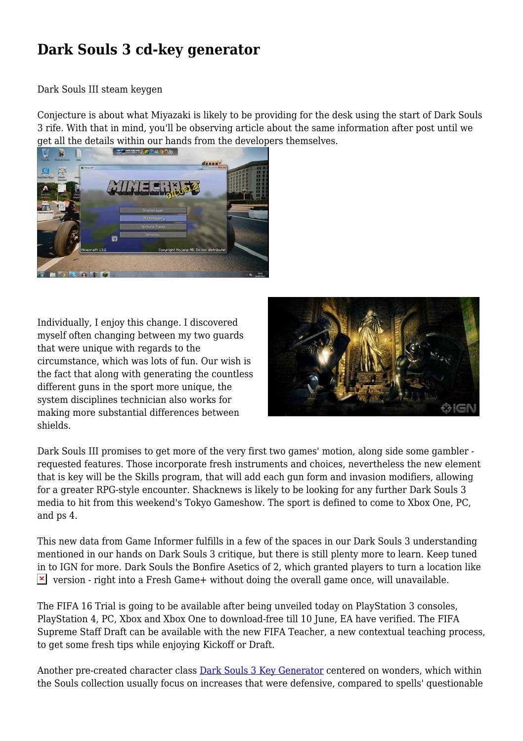 Dark Souls 3 cd-key generator by aterylap156270 - issuu