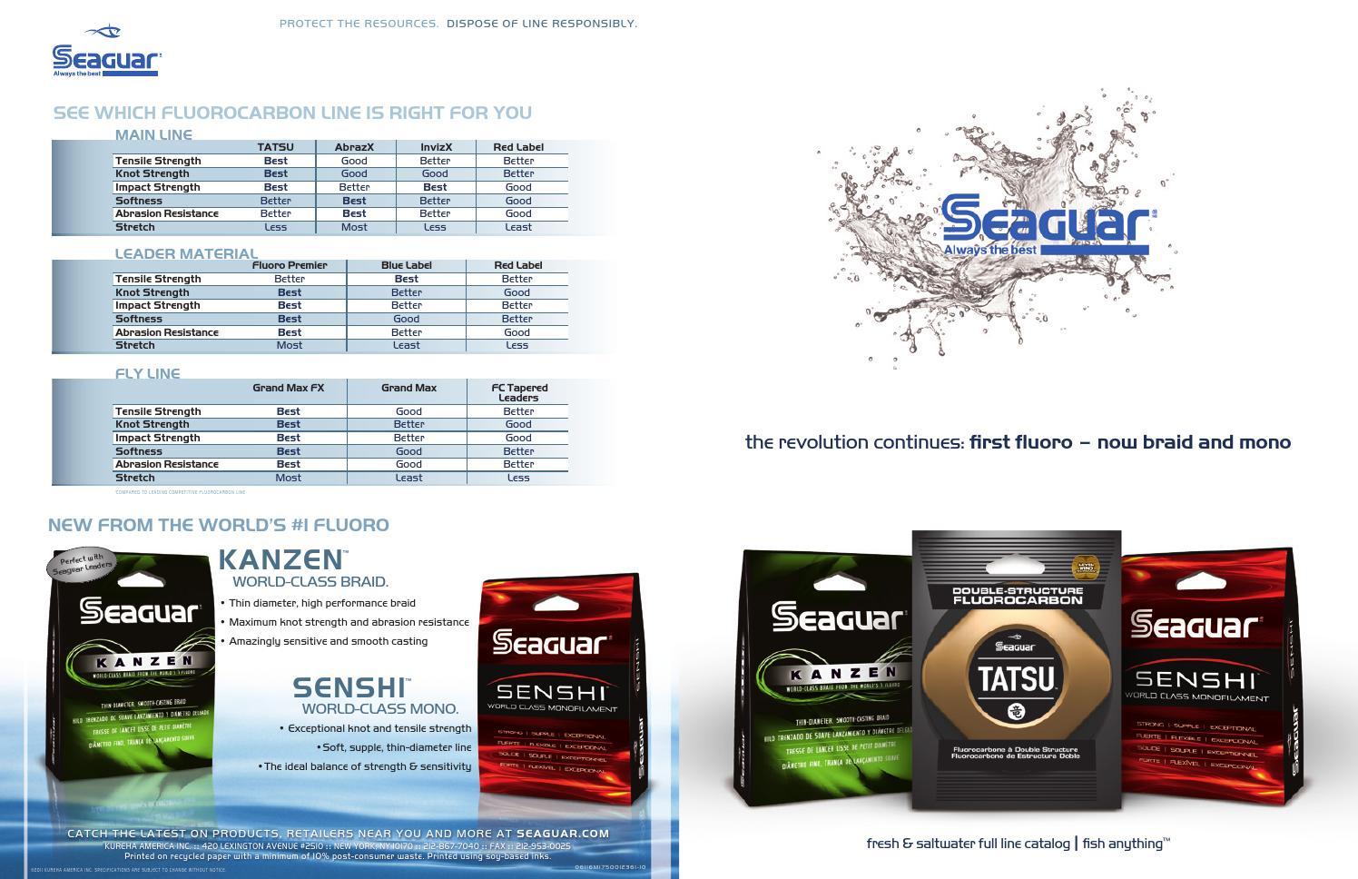 200 Yard Spool 4,6,8,10,12,15,17,20 lb Seaguar InvizX Fluorocarbon Line Test