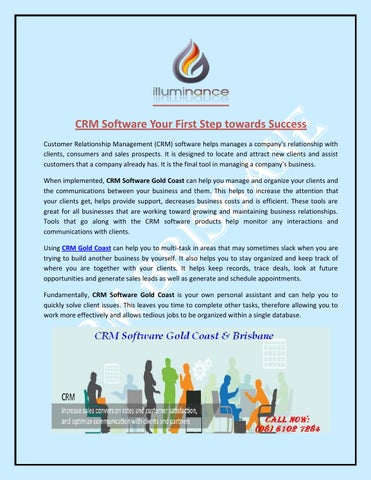 CRM Software Your First Step towards Success by CRM Brisbane