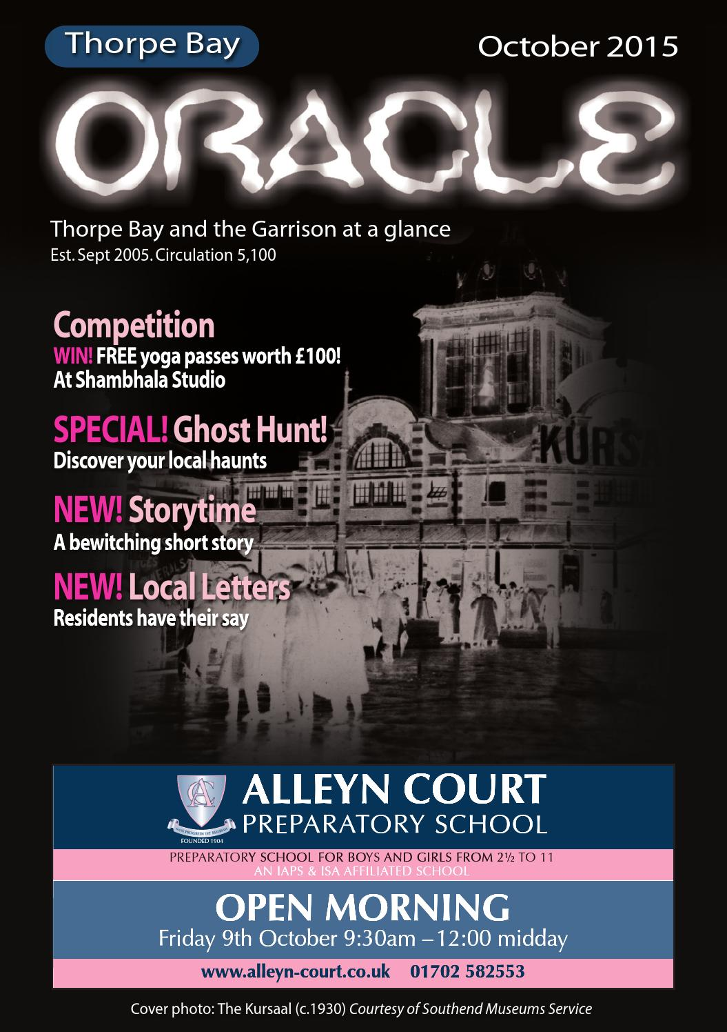 Thorpe Bay – Oct 2015 by Oracle Publications - issuu