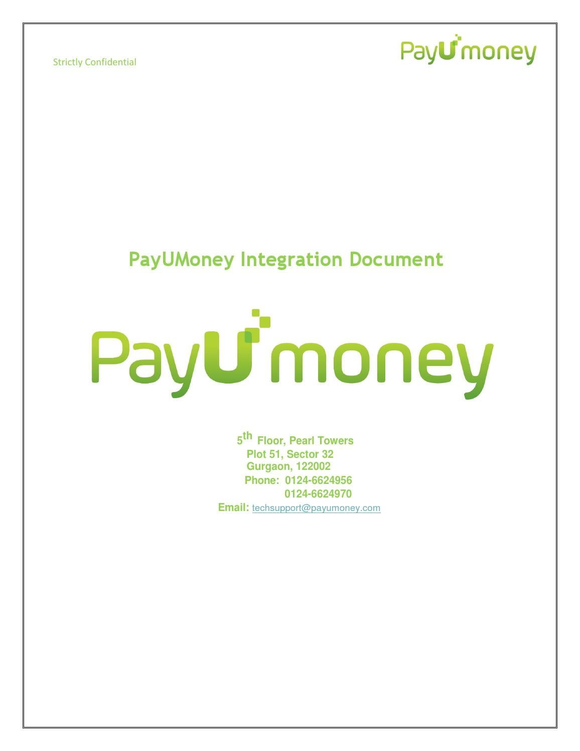 Payumoney technical integration document1 by Withs Technosolutions