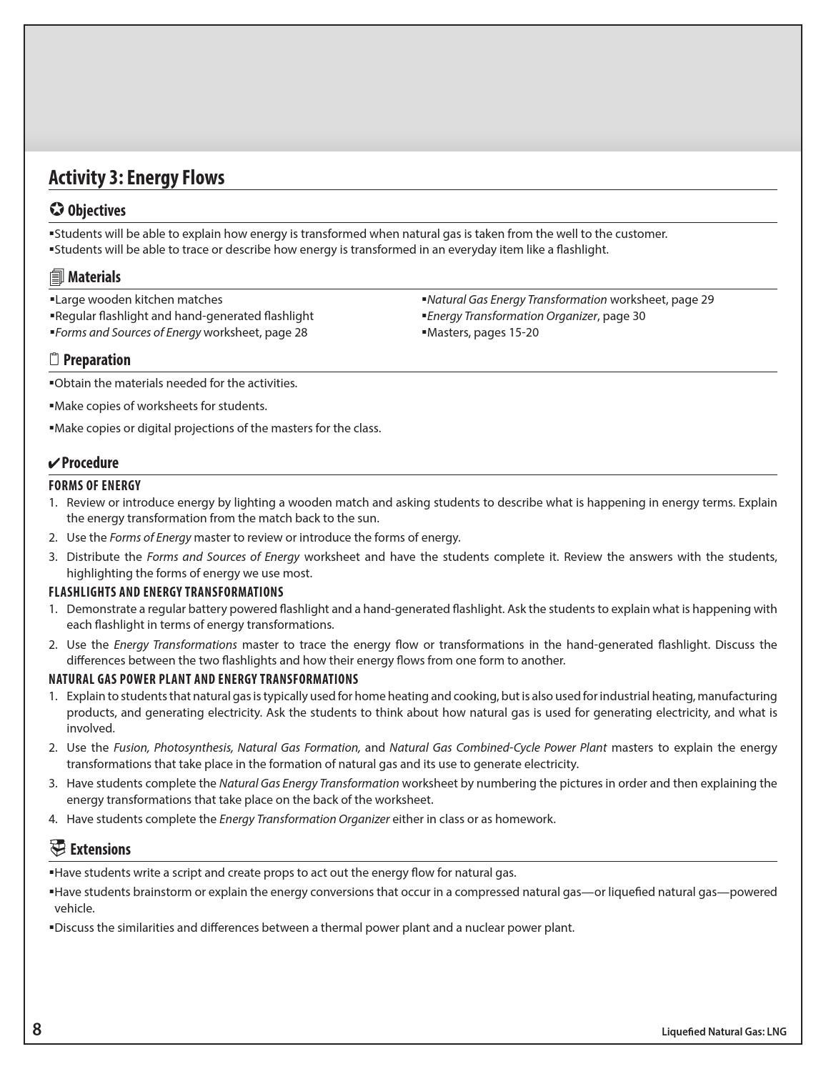 Energy Transformations Worksheet Answers - The Best and ...