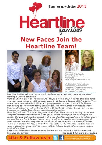 Heartline Families Newsletter Summer 2015