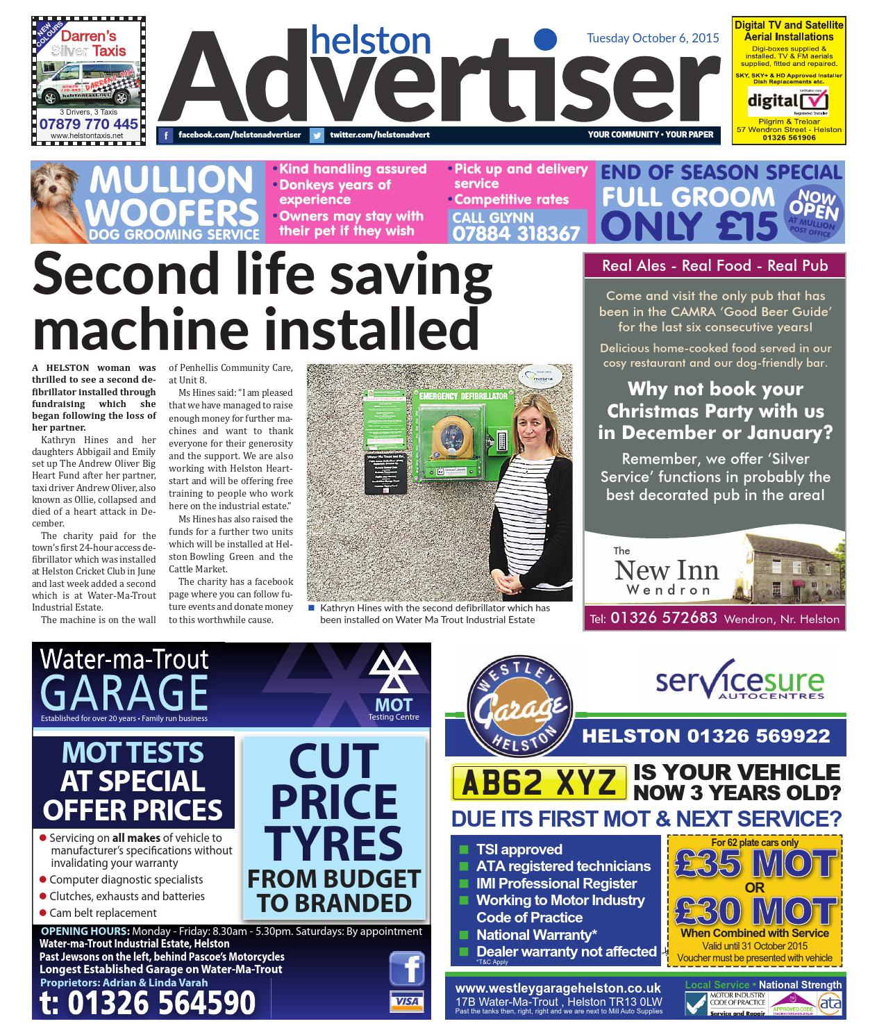 Helston Advertiser - October 6th 2015