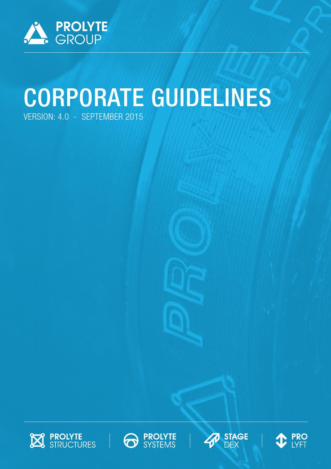 Prolyte Corporate Guidelines by Prolyte Group - issuu