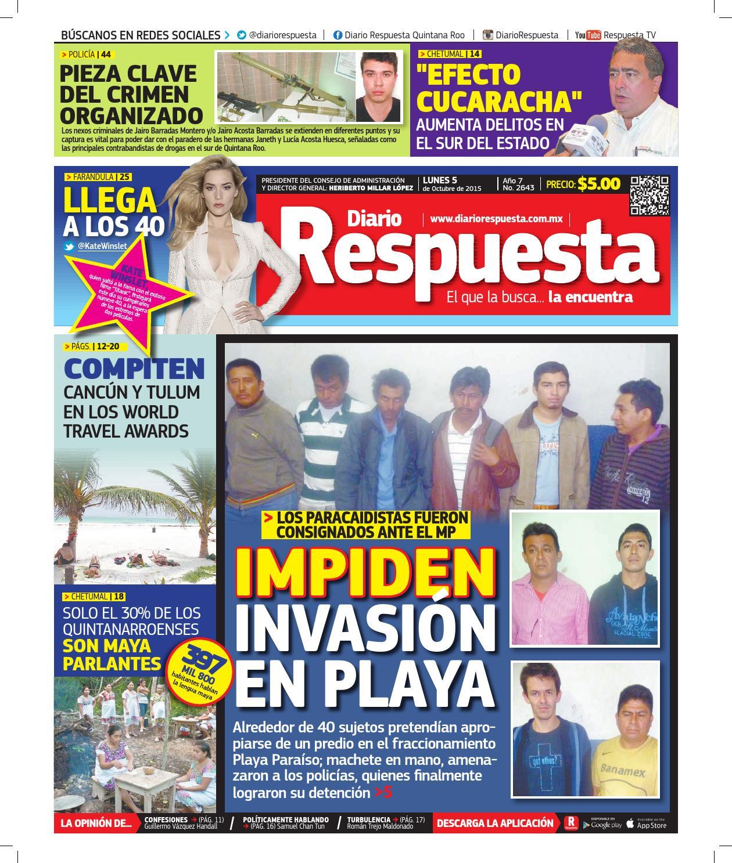 420ee2f076 Edicion digital 05 10 15 by Diario Respuesta - issuu