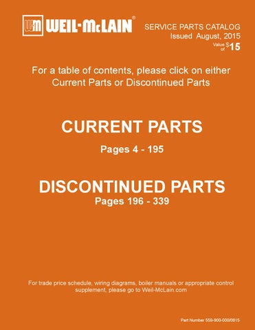 2015 Service Parts Catalog by Weil-McLain - issuu