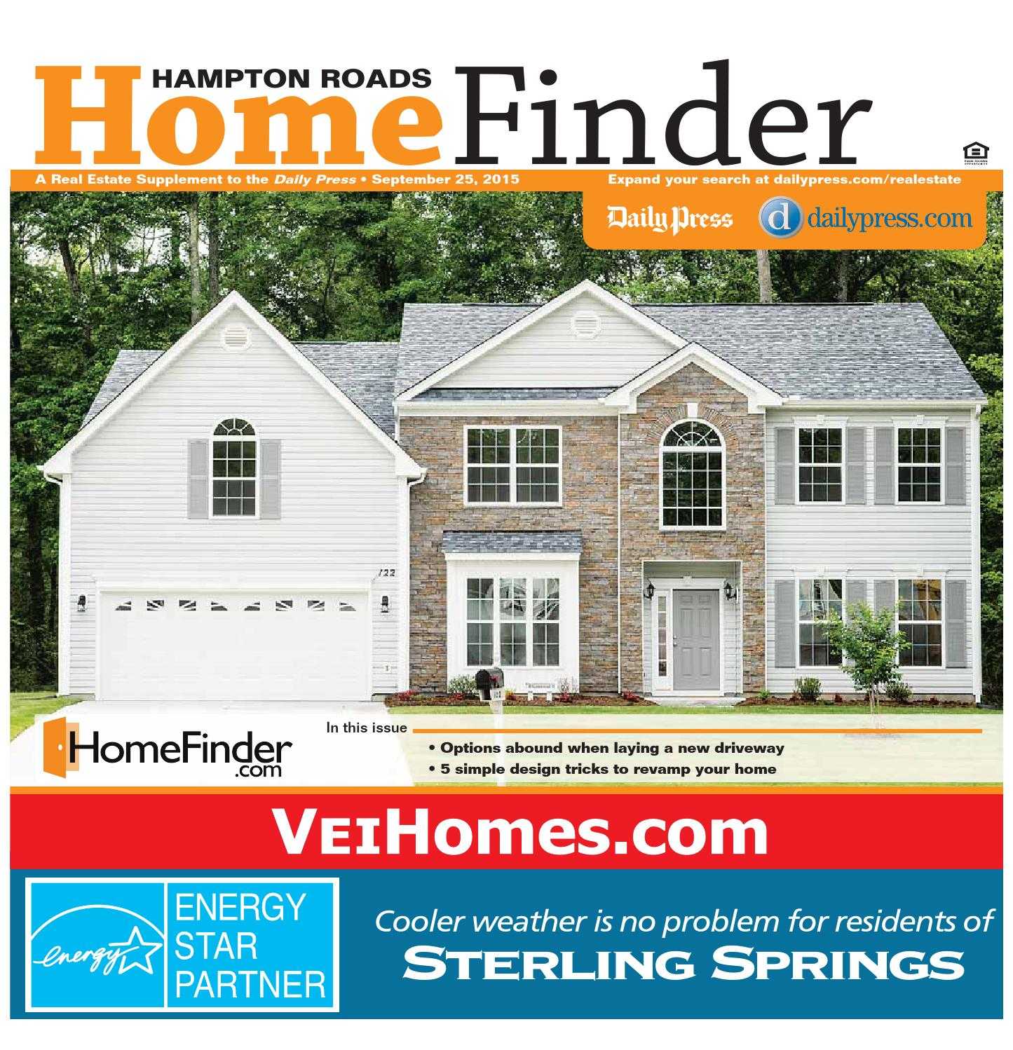 Home Finder For Rent: September 25, 2015 By Daily Press Media Group