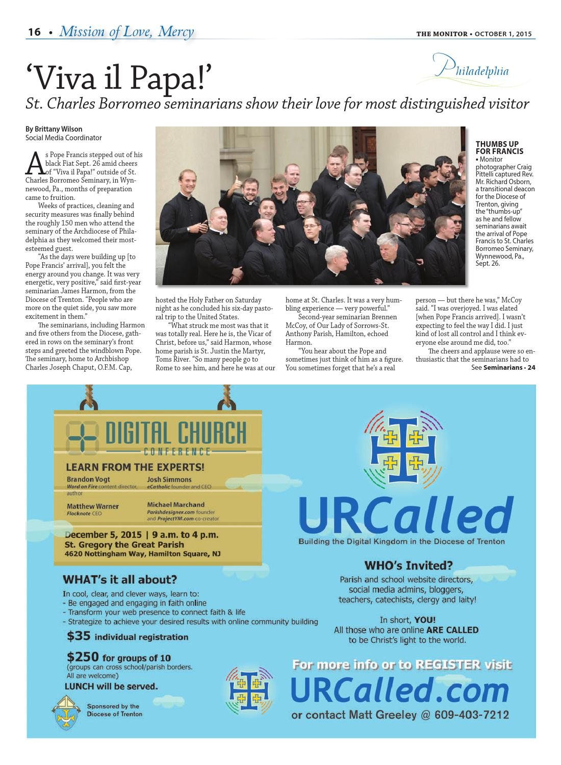 Papal Visit 2015 by Diocese of Trenton - issuu