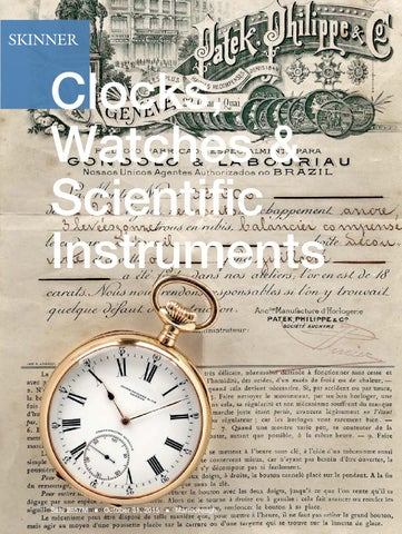 8e26ac267 Clocks, Watches & Scientific Instruments | Skinner Auction 2857M by ...