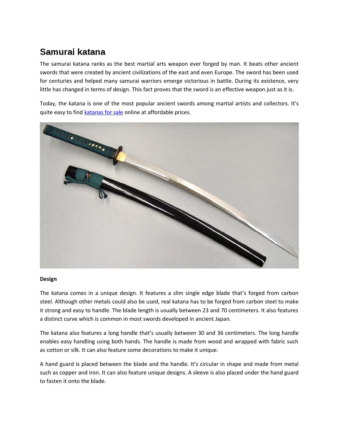 What is the length of a katana sword