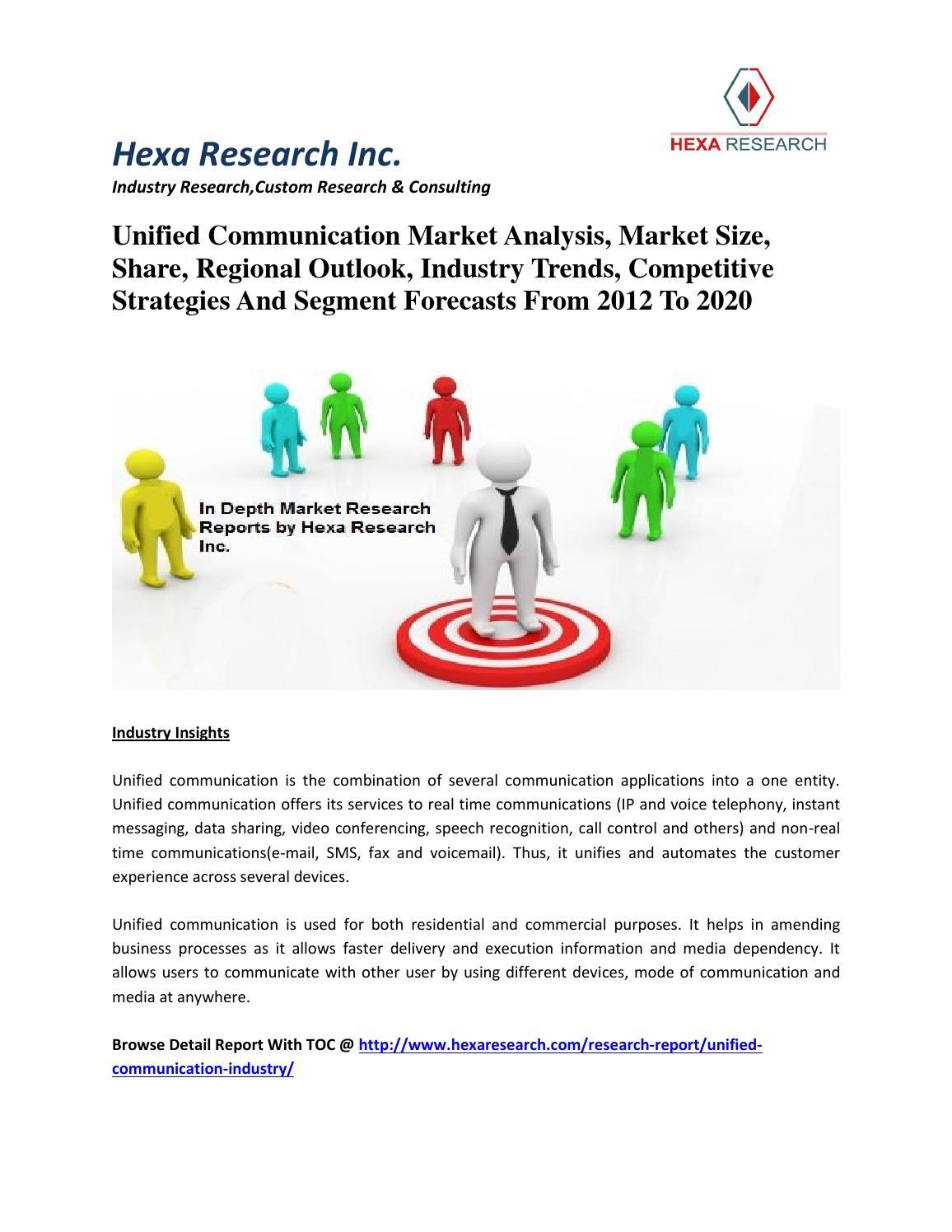 Unified communication market analysis, market size, share