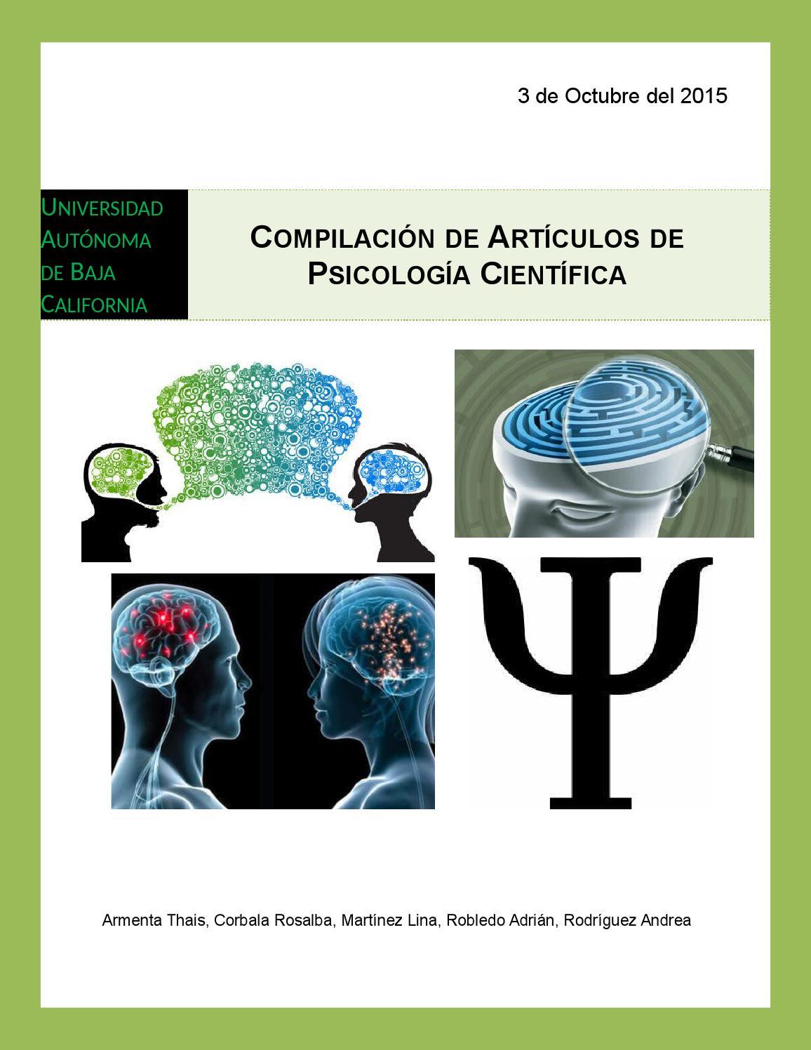 Articulos psicologia cientifica by thais - issuu