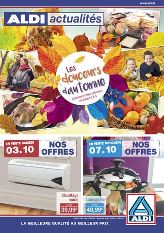 Aldi actualites en vente le 03 10 2015 by proomo france for Chauffage mural quigg