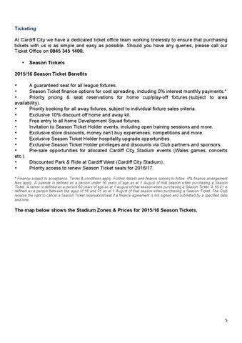 Cardiff city customer charter 2015 16 by cardiff city fc issuu - Cardiff city ticket office number ...
