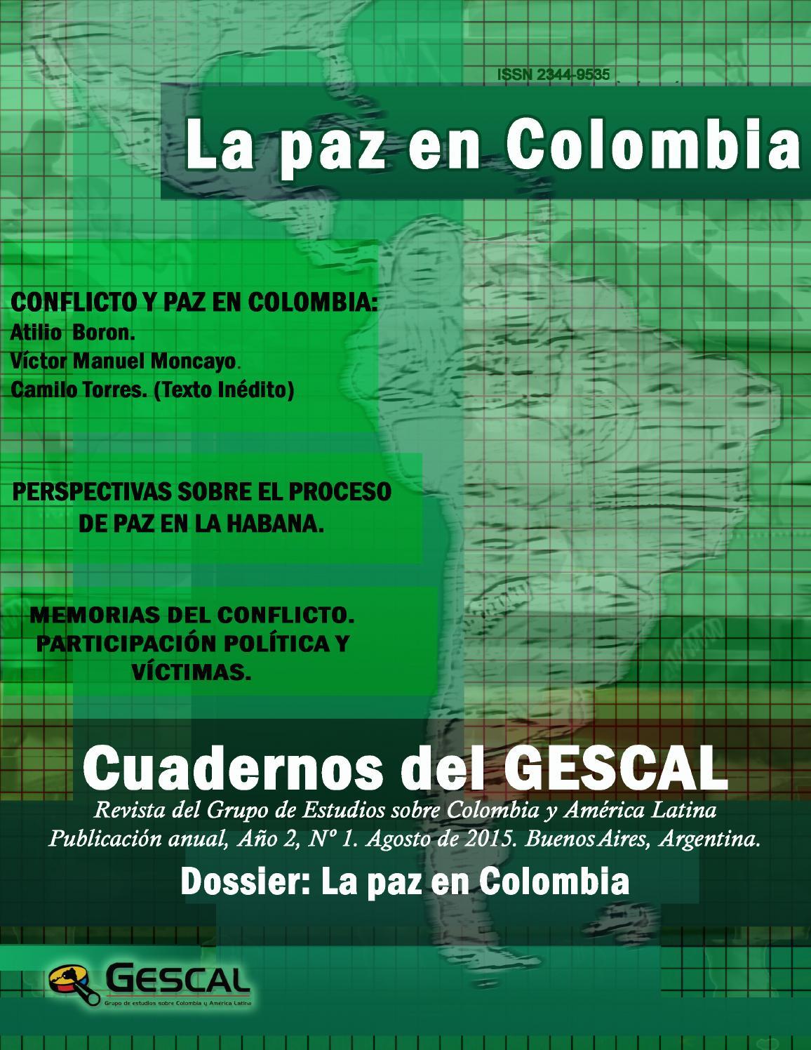 Cuadernos del gescal 2 1 2015 by grupo de estudios sobre colombia y am rica latina gescal issuu