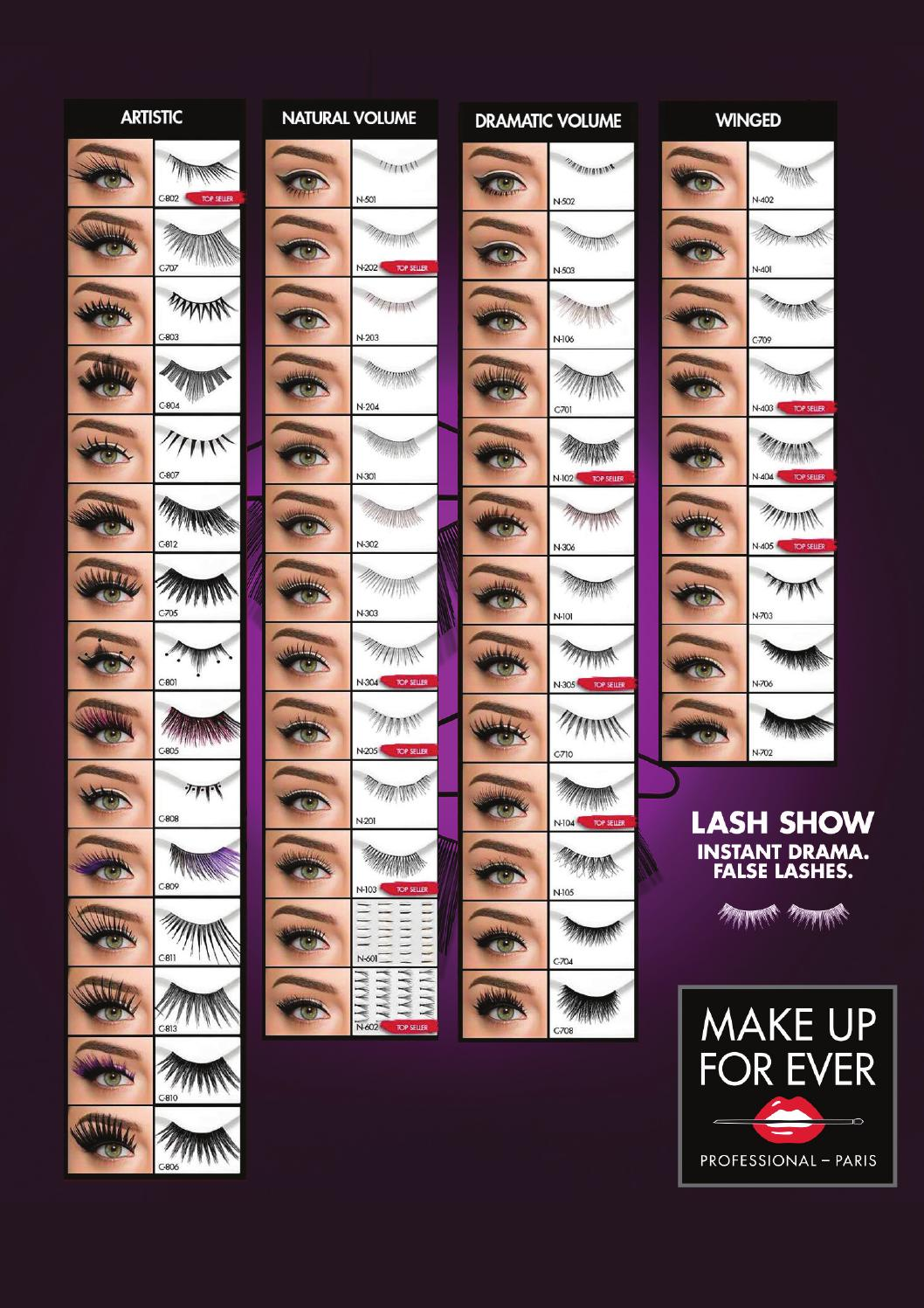 False Lashes Make Up For Ever By