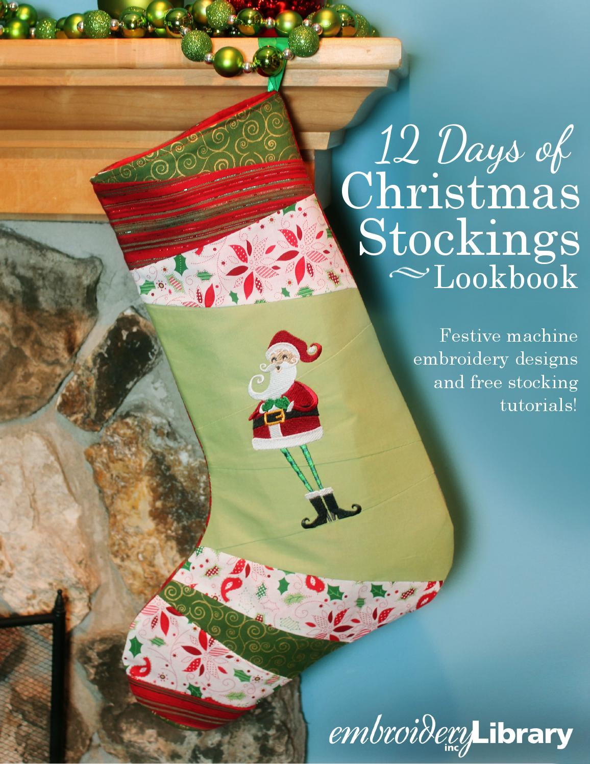 Embroidery Library 12 Days Of Christmas Stockings Lookbook By