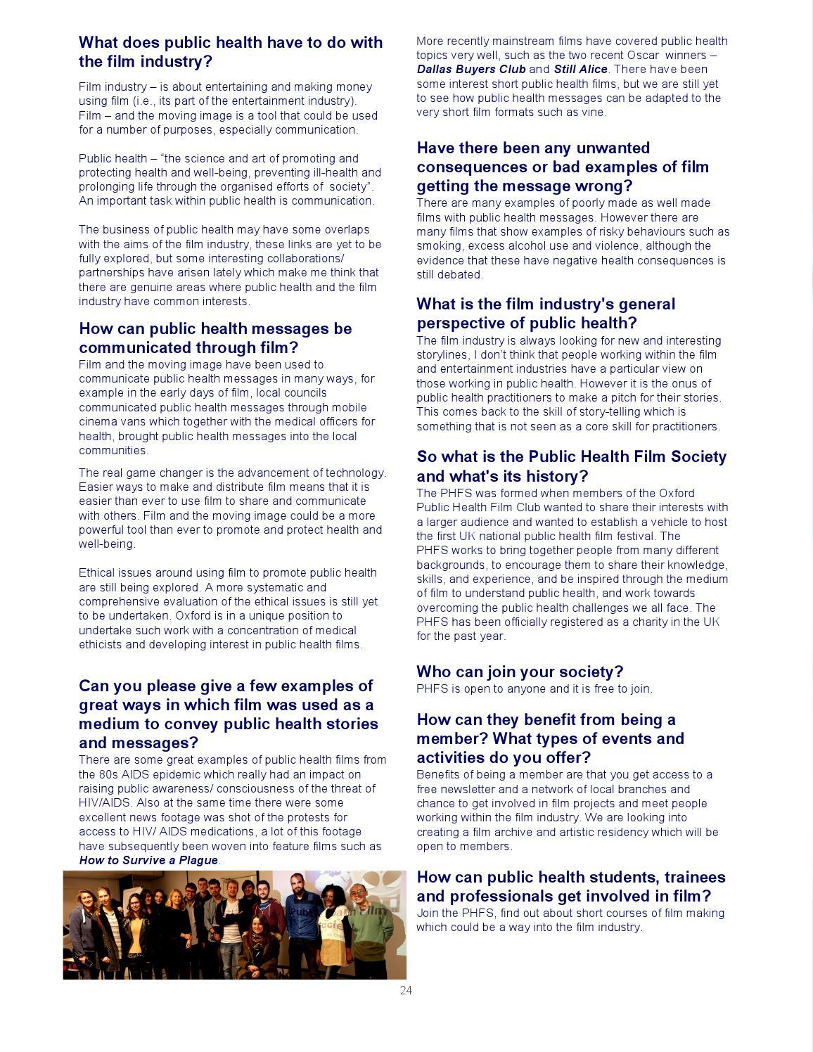 Oxford Public Health Magazine - Issue 1 by Oxford Public