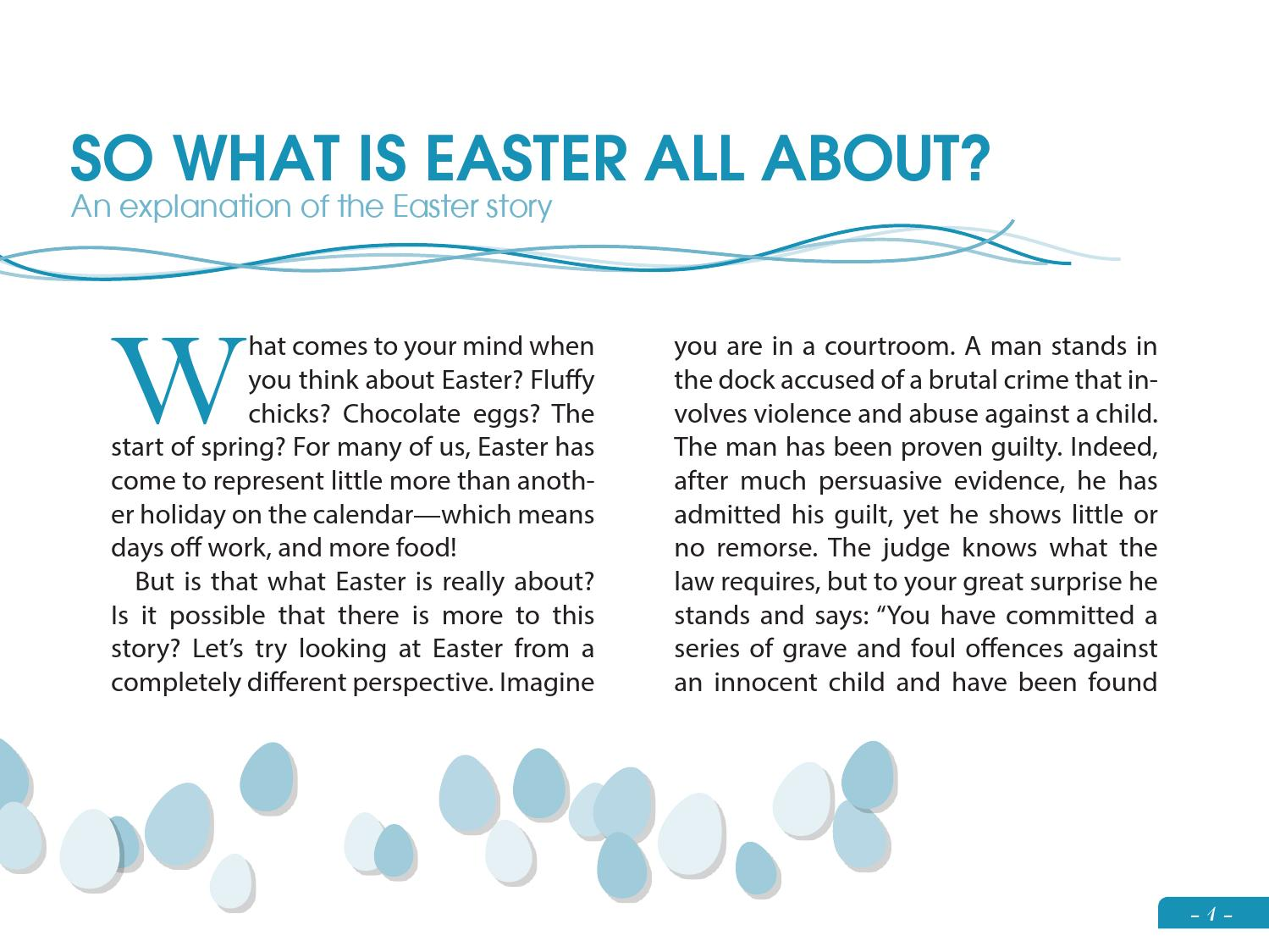 So What Is Easter All About By Our Daily Bread Ministries