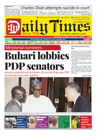 Dtn 7 10 15 by Daily Times of Nigeria - issuu a5d2d9a7672c