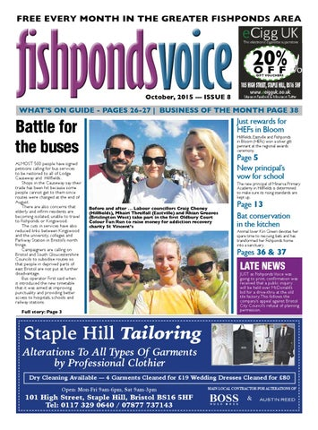 Fishponds Voice October 2015 By Fishponds Voice Issuu