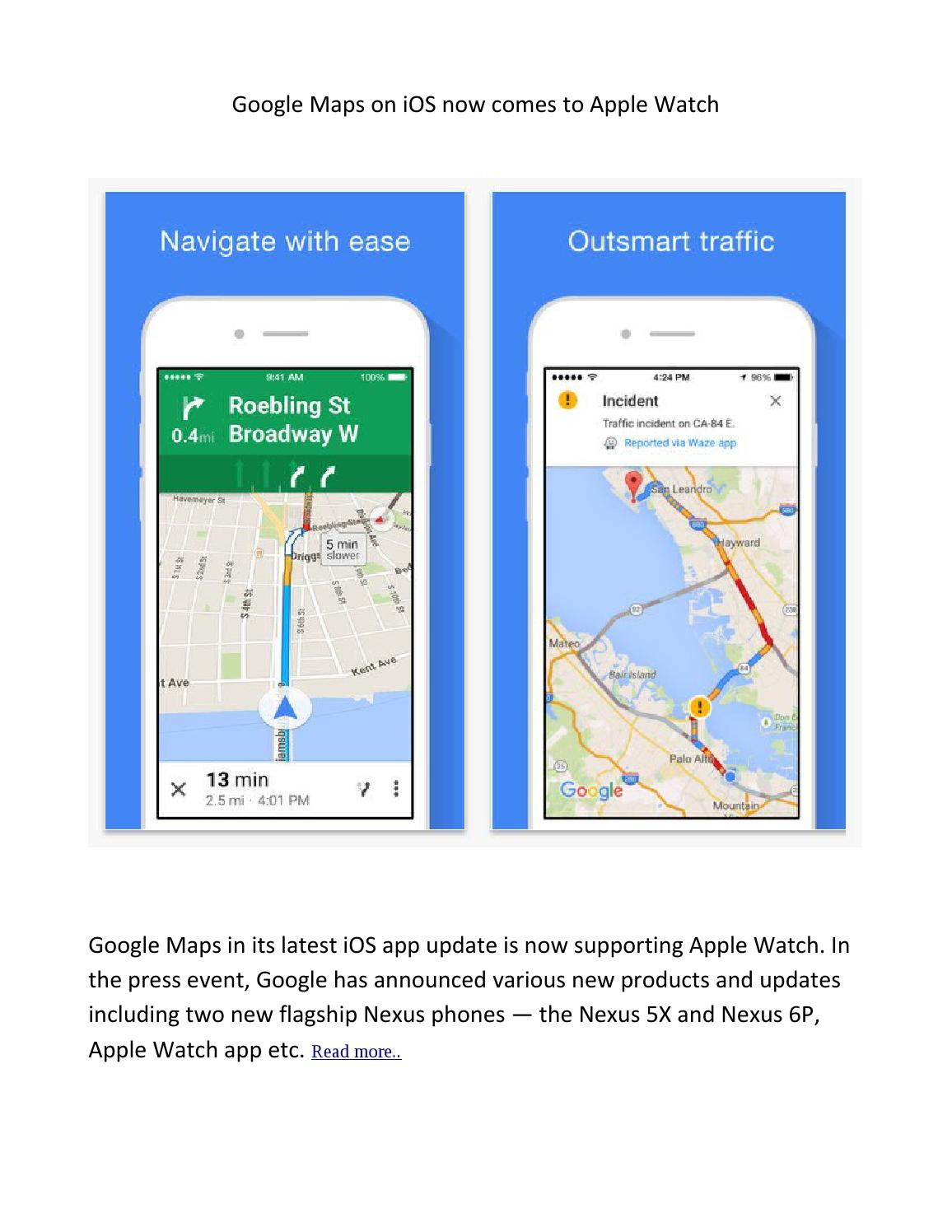 Google Maps For Apple Watch By Singsys Pte Ltd Issuu