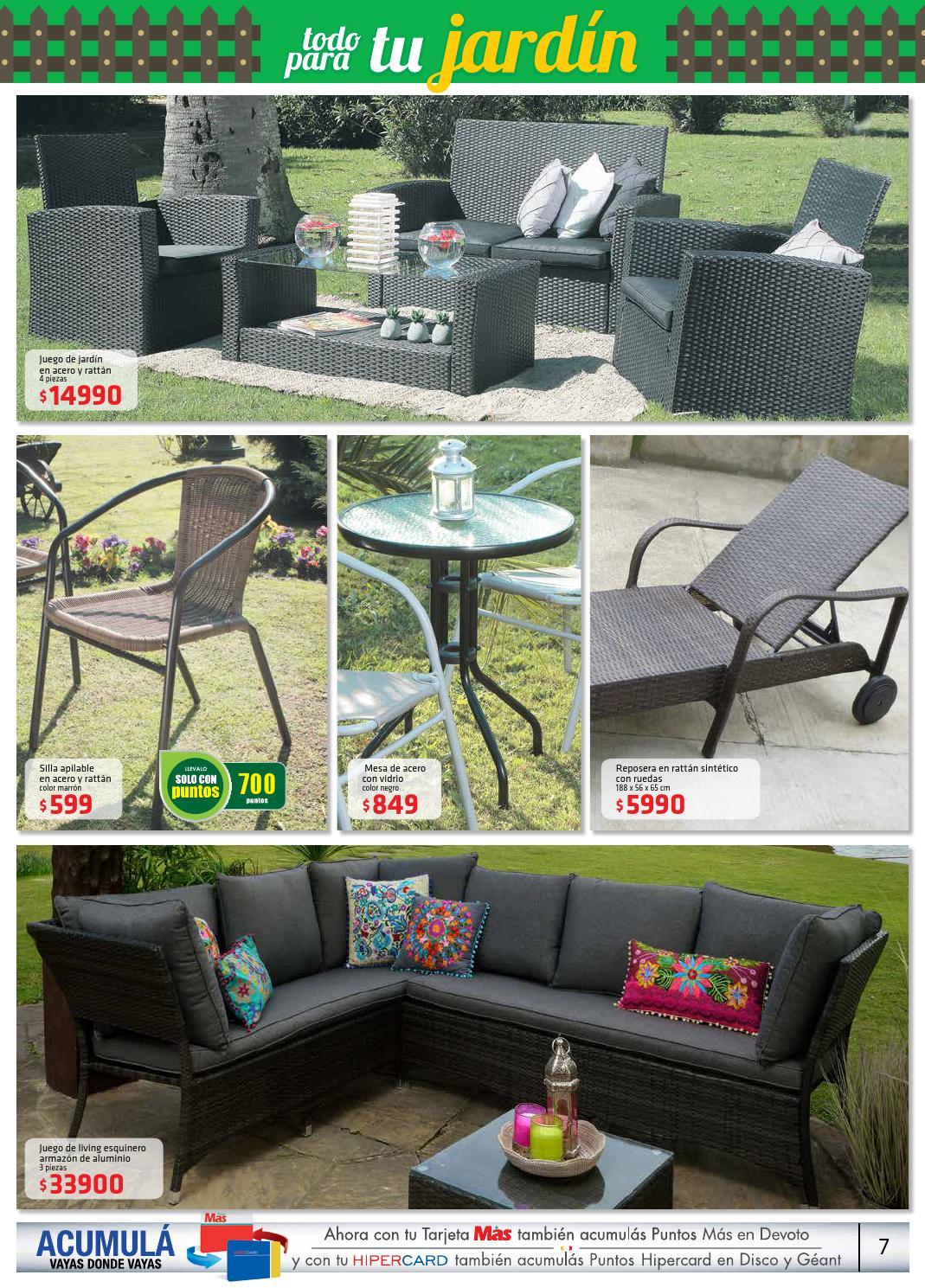Muebles Y Jardin Disco 27 07 10 Al 08 11 By Supermercados Disco  # Geant Muebles De Jardin