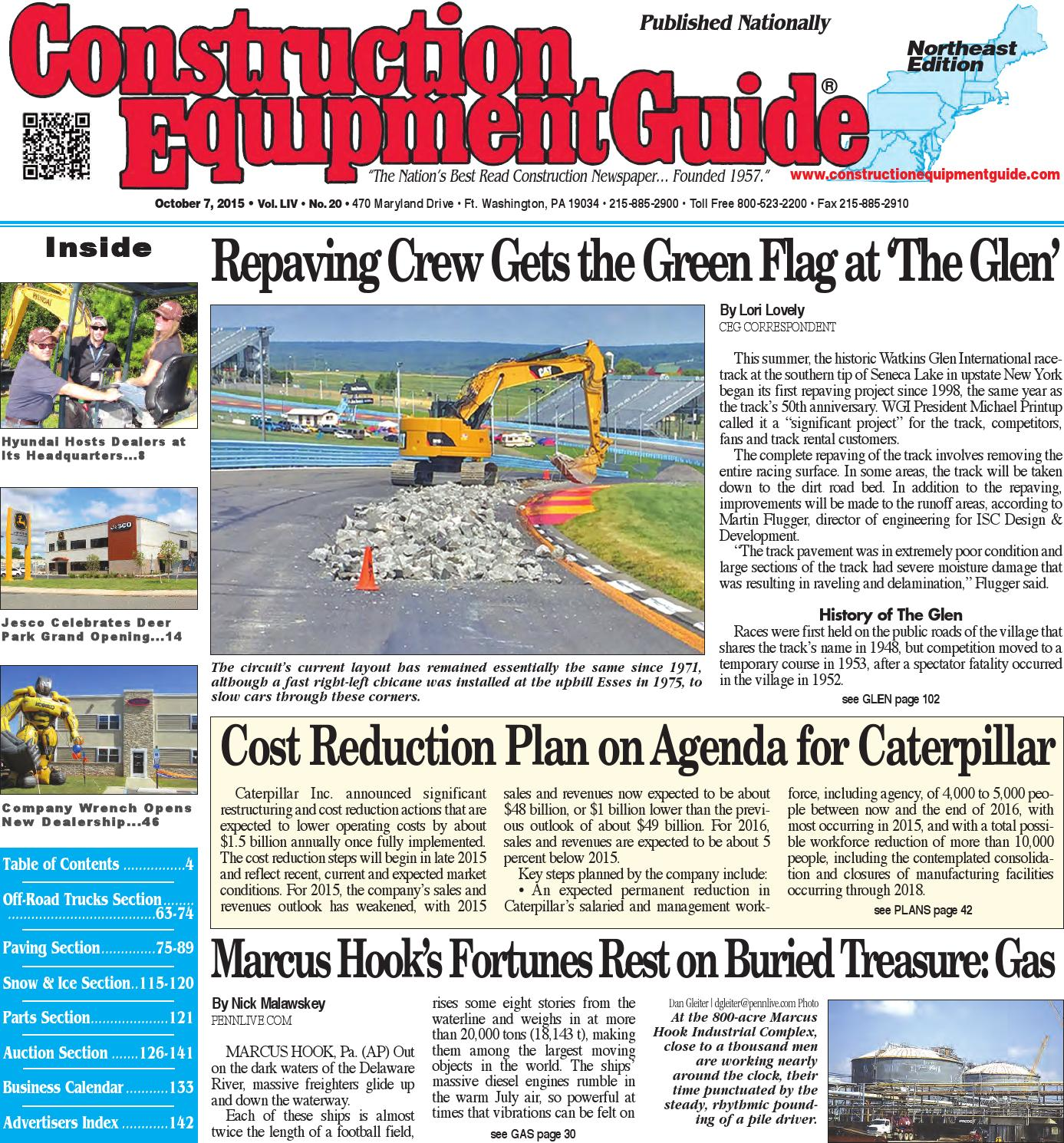 Northeast 20 2015 by Construction Equipment Guide - issuu