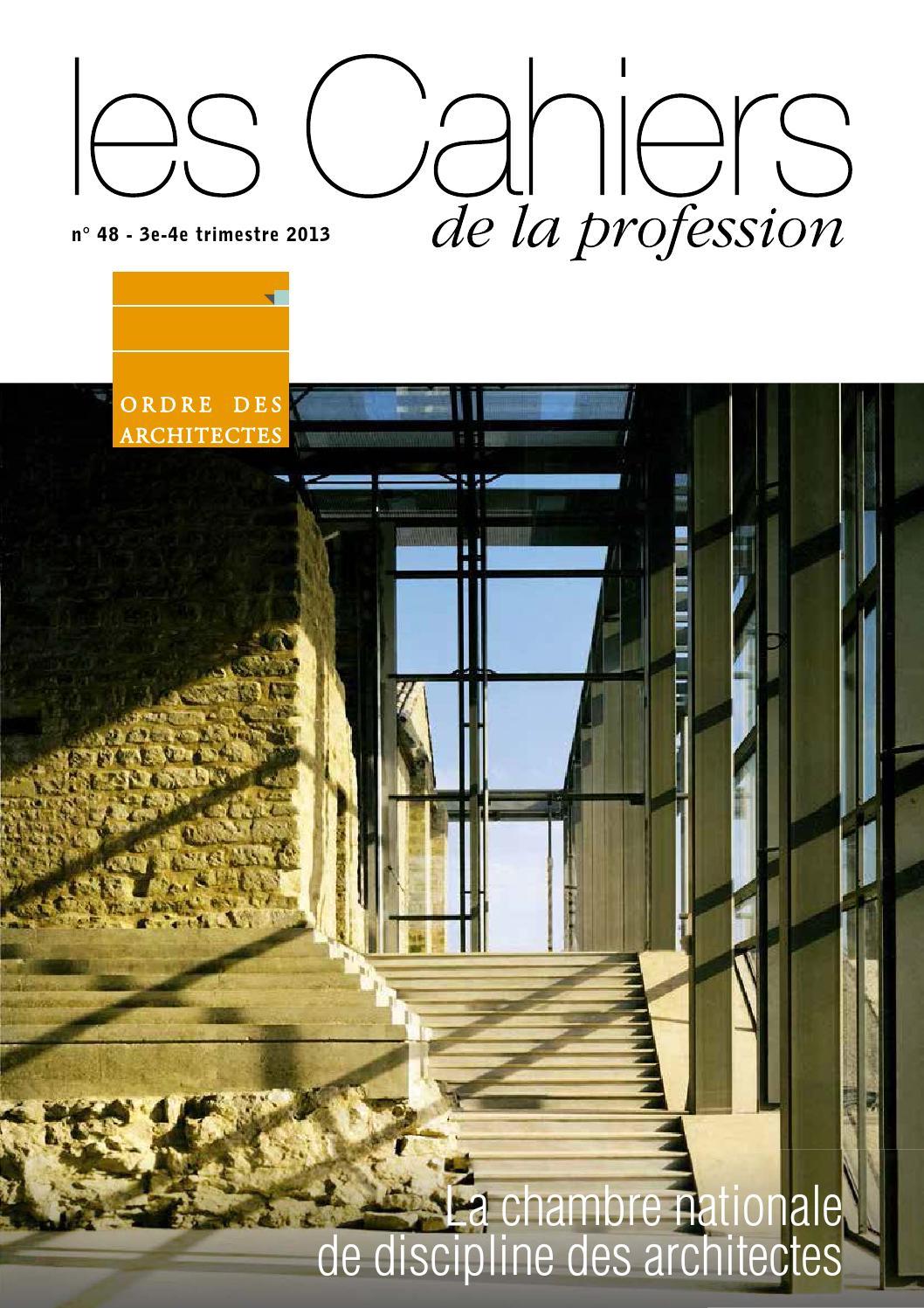 Les cahiers de la profession n 48 by cnoa issuu - Chambre disciplinaire nationale de l ordre des medecins ...