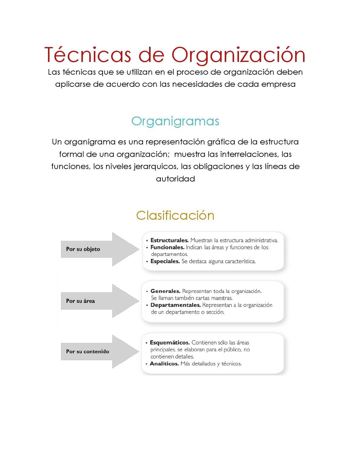 Técnicas De Organización Lani By Lanibonni Issuu