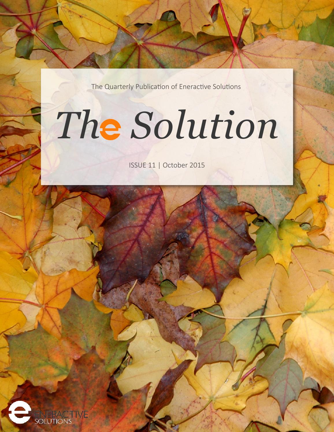 The Solution Issue 11 By Edison Energy Engineered By