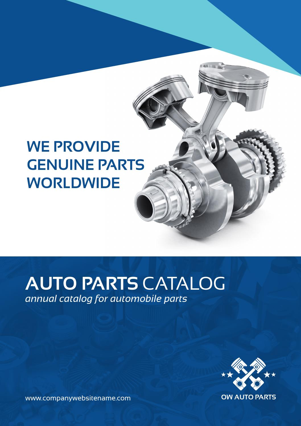 auto parts catalog brochure template by ow pictures