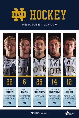 ba81feba9 2015 16 Notre Dame Hockey Media Guide by Chris Masters - issuu