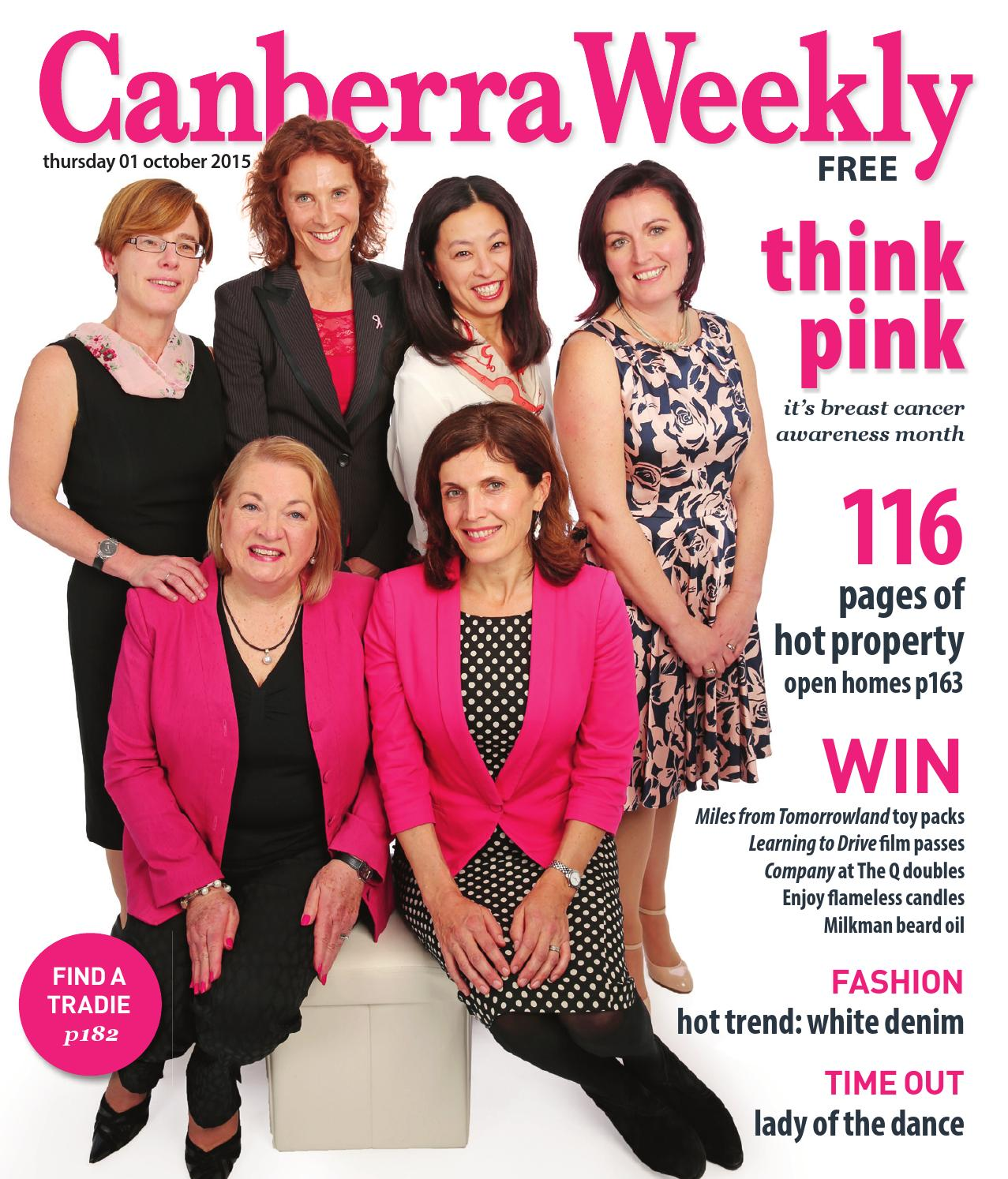 01 October 2015 By Canberra Weekly Magazine Issuu Sexy Dress Scuba Combination Angela