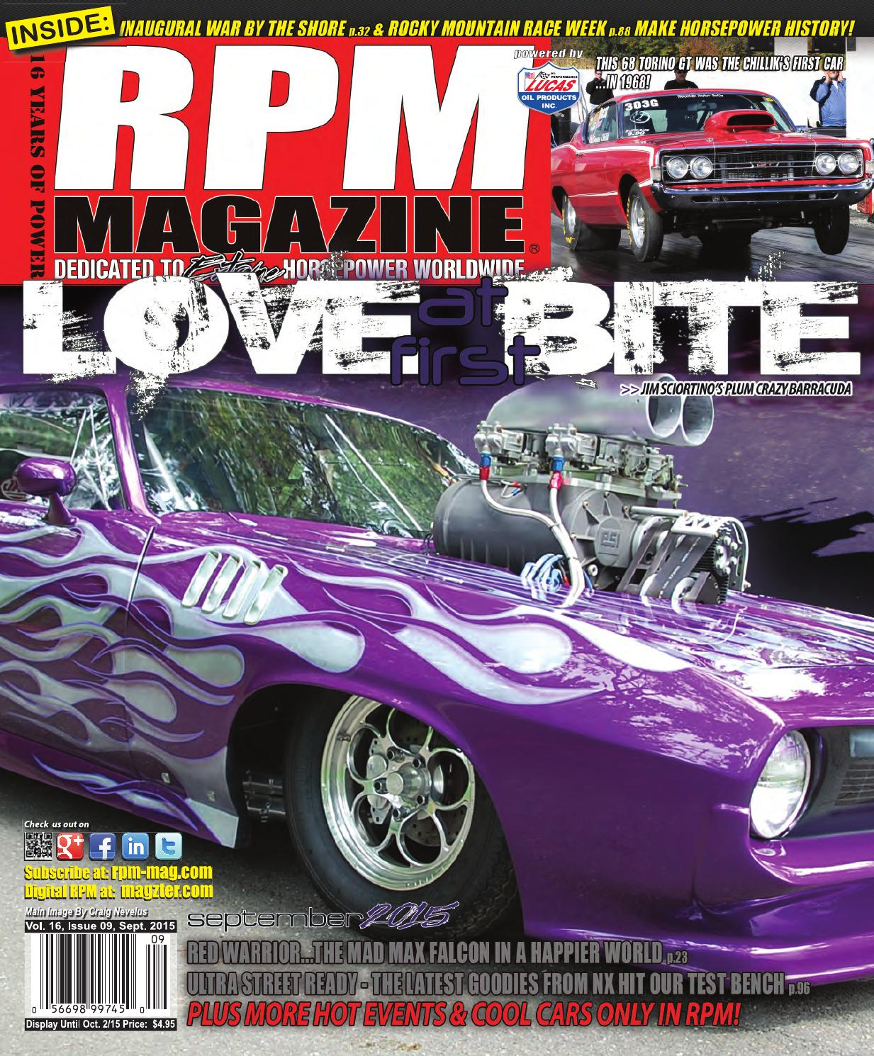 Rpm Magazine September 2015 By Issuu Harness Routing Under Hood For 1973 Amc 6 Cylinder Hornet Matador And Gremlin