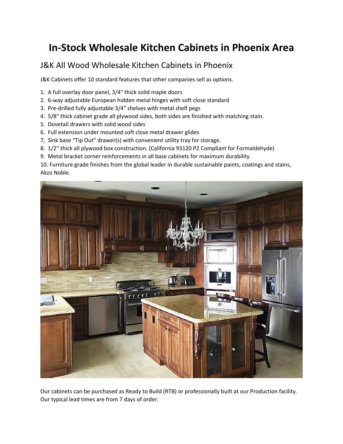 In Stock Wholesale Kitchen Cabinets In Phoenix Area By