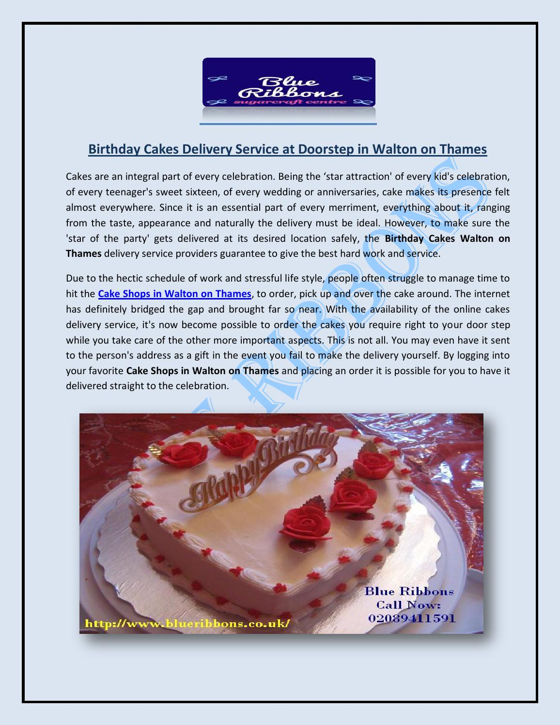 Incredible Birthday Cakes Delivery Service At Doorstep In Walton On Thames By Birthday Cards Printable Inklcafe Filternl